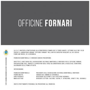 Conferenza Stampa Opera Fornari a Cerignola il 1 Ottobre Di;Mimmo Siena