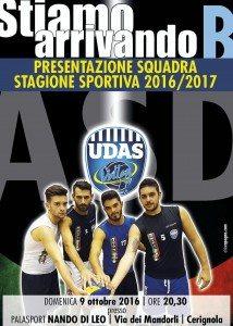 Presentazione Udas Voley 2016-17 Domenica 9 Ottobre a Cerignola(Fg)