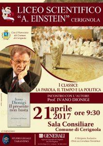 Ex Rettore Di Bologna Ivano Dionigi a Cerignola Ospite Dell'Einstein Di;Mimmo Siena