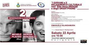 Michele Placido e Giorgia Benusiglio Generazioni a Confronto al Mercadante Di;Mimmo Siena