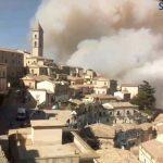 Incendio Pericoloso Sconvolge S.Agata di Puglia