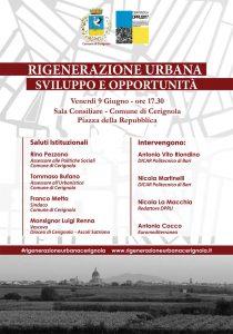 Rigenerazione Urbana di Cerignola, tra sviluppo ed opportunità Venerdì 9 giugno il convegno Di;Redazione Speciale News Web-Tv