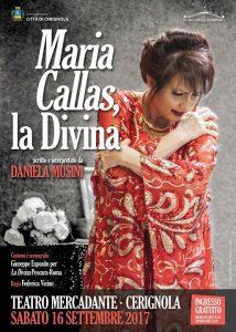 Stasera Al Mercadante''Maria Callas,La Divina''Con Daniela Musini Di;Redazione Speciale News Web 24