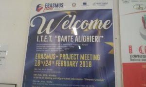 Al Via All'Ite''Alighieri''di Cerignola La 2da Edizione del Progetto Europeo Erasmus+Di;Mimmo Siena