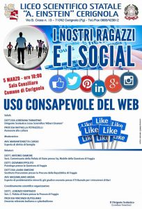 Cyberbullismo a Cerignola Evento Liceo Scientifico Einstein